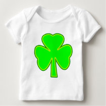 Shamrock Green Yellow The MUSEUM Zazzle Gifts Baby T-Shirt