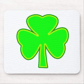 Shamrock Green Yellow The MUSEUM Zazzle Gifts Mouse Pad