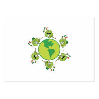 Shamrock Happy Large Business Cards (Pack Of 100)