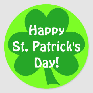 Shamrock Happy St. Patrick's Day Classic Round Sticker