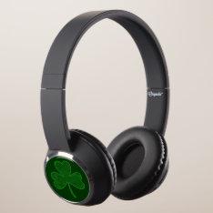 Shamrock Headphones at Zazzle