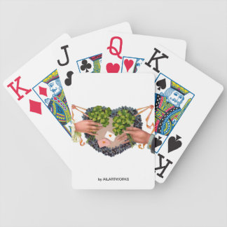 SHAMROCK HEART BICYCLE PLAYING CARDS