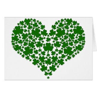 Shamrock Heart Greeting Cards