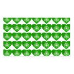 Shamrock Heart 'hearts' business card white