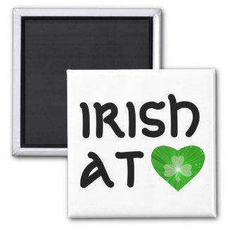 Shamrock Heart 'Irish at Heart' fridge magnet Magnet