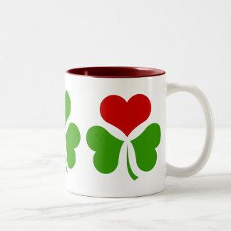 Shamrock Heart Coffee Mug