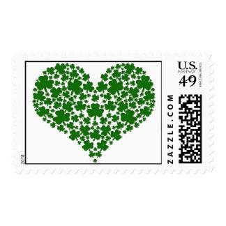 Shamrock Heart Postage Stamp