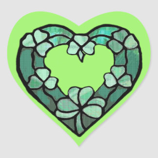 Shamrock Heart Sticker