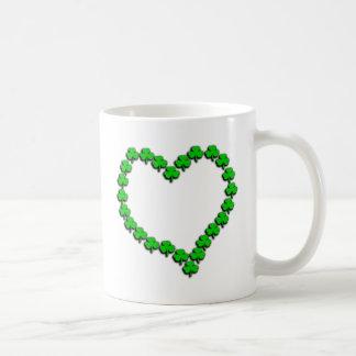 Shamrock Heart With Black Shadow Coffee Mug