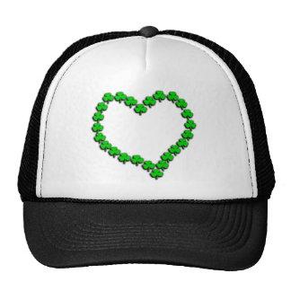 Shamrock Heart With Black Shadow Trucker Hat