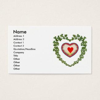Shamrock Hearts Business Card