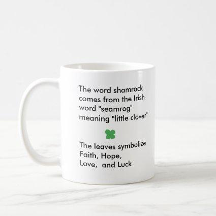 Shamrock history - mug