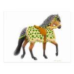 Shamrock Horse Postcard