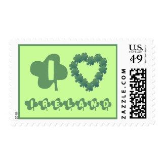 Shamrock - I Love Ireland Postage