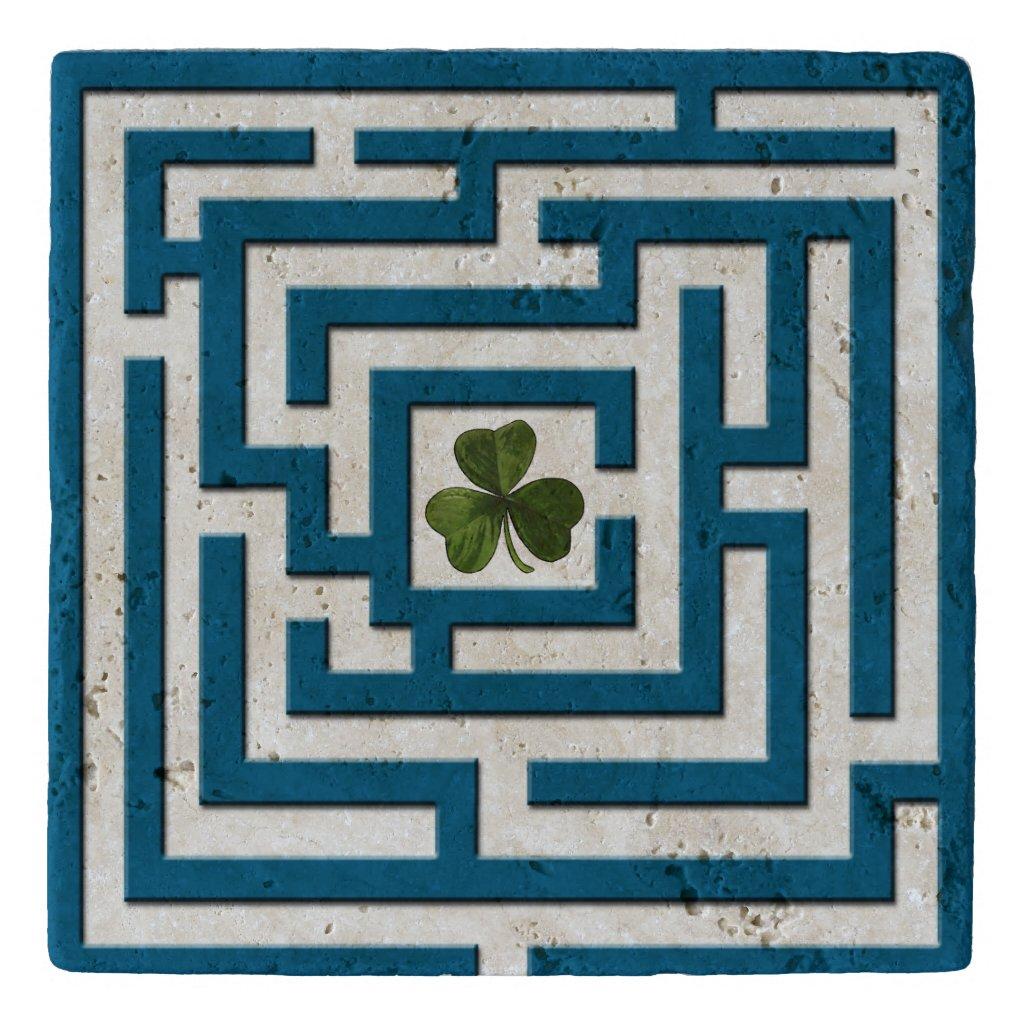Shamrock in Blue Labyrinth Challenge