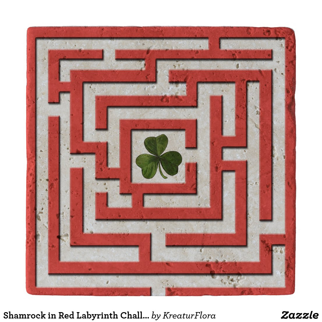 Shamrock in Red Labyrinth Challenge