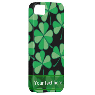 Shamrock Iphone 5 case (Add your own message)
