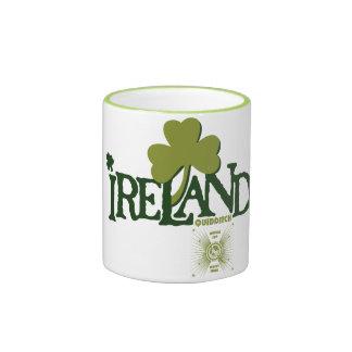 Shamrock Ireland Quidditch Ringer Coffee Mug