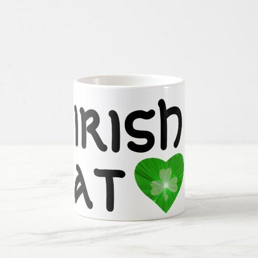 Shamrock 'Irish at (heart)' mug white