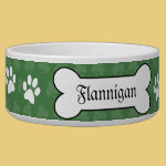 Shamrock Irish Clover Customized Pet Dog Food Bowl