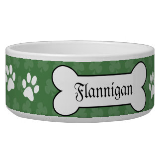 Shamrock Irish Clover Customized Pet Dog Food Bowl