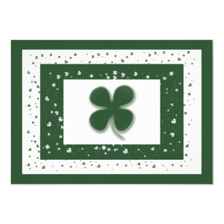 Shamrock Irish clovers wedding engagement Card