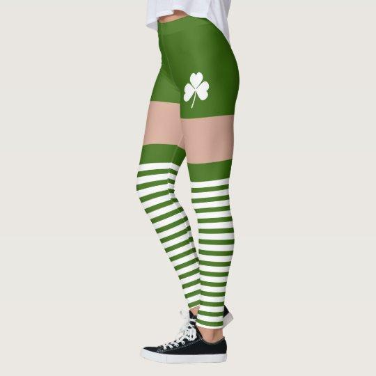74ea038ff8250 Shamrock Irish Green St Patricks Day Novelty Fun Leggings | Zazzle.com
