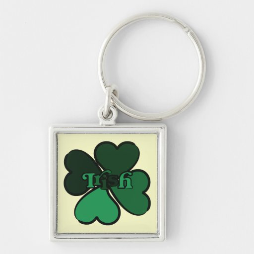 Shamrock Irish Key Chain