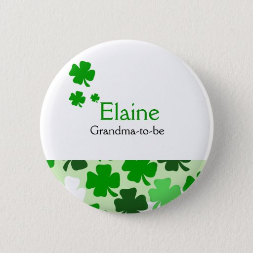 Shamrock Irish NAME TAG Personalized Button