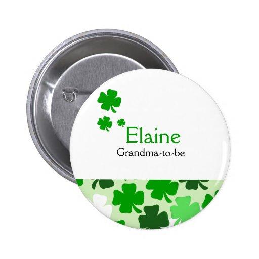 Shamrock Irish NAME TAG Personalized Button