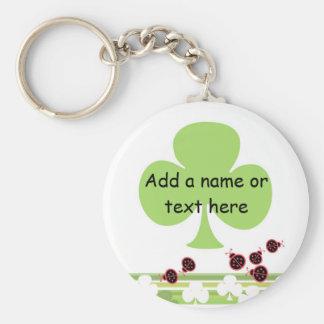 Shamrock Keychain, customizable Basic Round Button Keychain