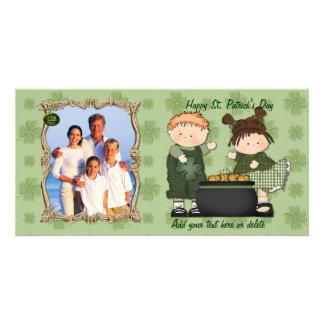 Shamrock Kids - Customize Photo Card