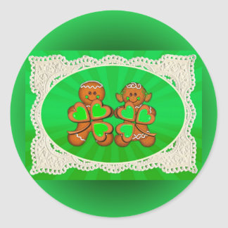SHAMROCK KIDS & LIGHT RAYS by SHARON SHARPE Classic Round Sticker