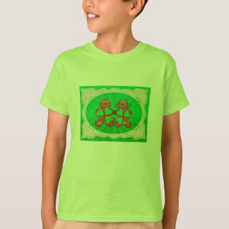 SHAMROCK KIDS & LIGHT RAYS by SHARON SHARPE T-Shirt