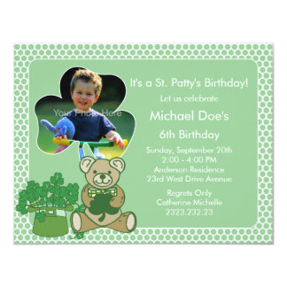 Shamrock Kid's St. Patrick's Day Bash Card