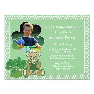 Shamrock Kid's St. Patrick's Day Bash Invitations