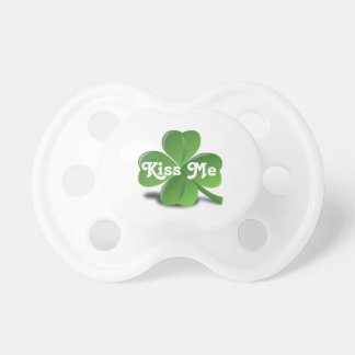 "Shamrock ""Kiss Me"" St. Patrick's Day Baby Binkie Pacifier"