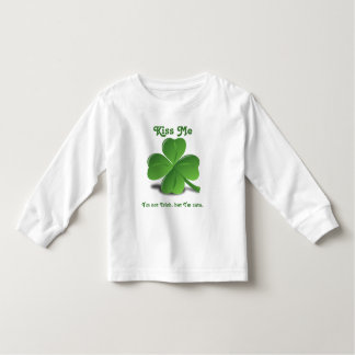 "Shamrock ""Kiss Me"" St. Patrick's Day Toddler T-shirt"