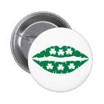 Shamrock kiss pin