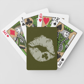 Shamrock Kisses Playing Cards