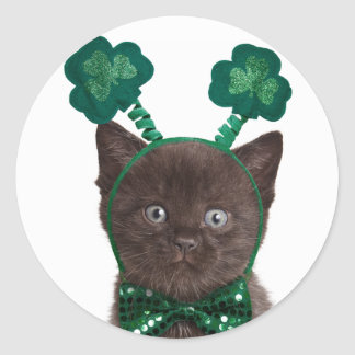 Shamrock Kitten Stickers