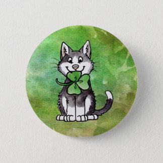 Shamrock Kitty Button