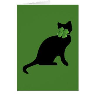 Shamrock Kitty Card