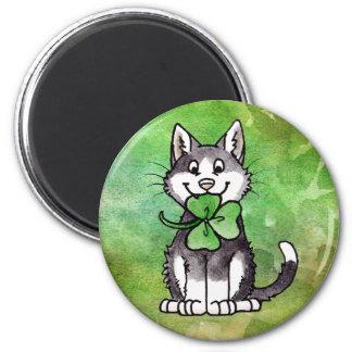 Shamrock Kitty Magnet
