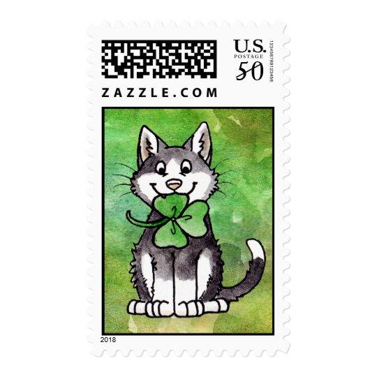 Shamrock Kitty Postage