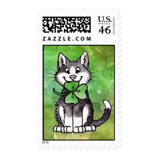 Shamrock Kitty Stamp