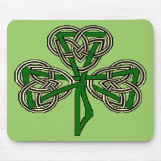 Shamrock Knot Cross Mouse Pad