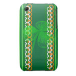 Shamrock Knot Stripes iPhone 3 Case-Mate Cases