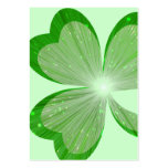 Shamrock Large Green business card chubby