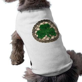 Shamrock, Lattice And Celtic Knots On Beige T-Shirt